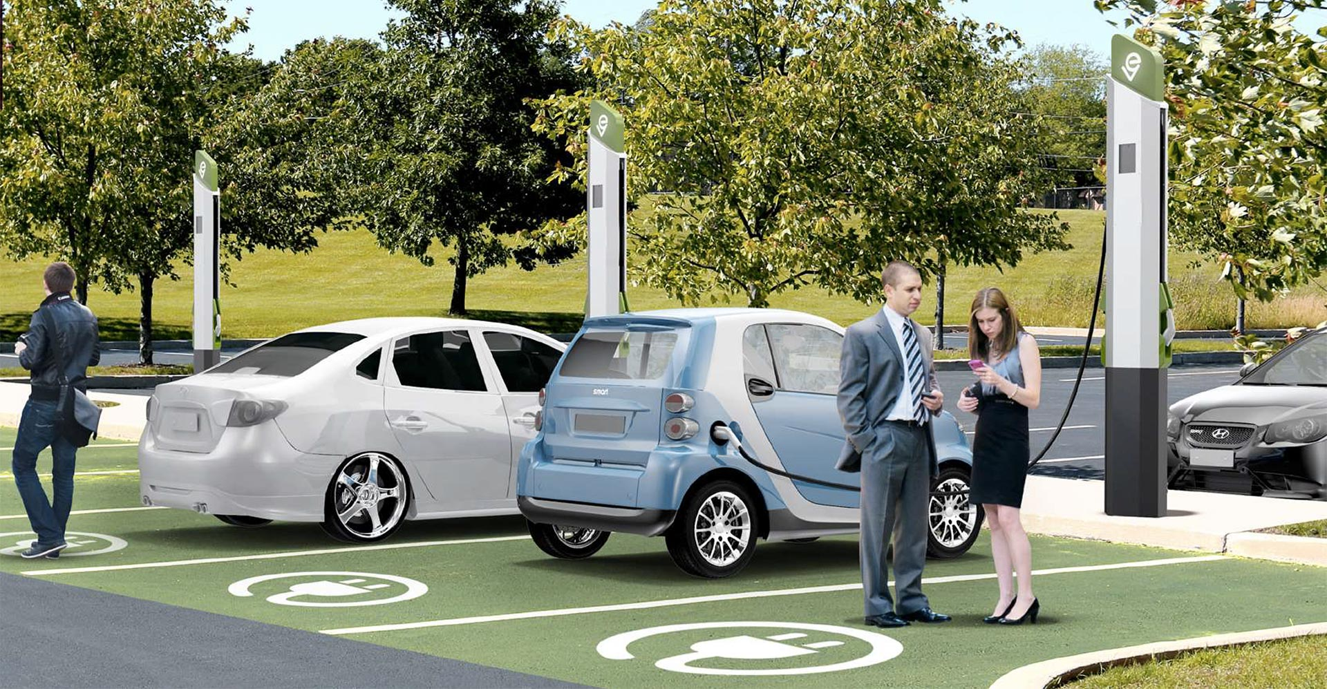 New generation of level 2 charging stations for electric vehicles in parking areas